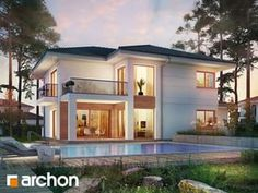 Modern Architecture House, Modern House Design, Classic House, Modern Classic, Villa, Two Story Homes, Modern Exterior, Home Fashion, Home Interior Design