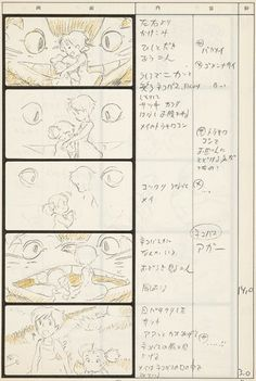 MIYAZAKI, Hayao. Totoro Storyboard 12. [sold] Original Anime print for Studio Ghibli, as published in Japan, 1988.