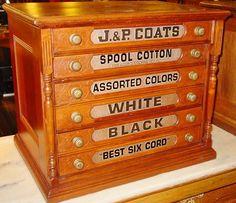 J&P Coats Reproduction Thread Spool Cabinet Kit - Furniture ...