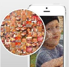 Cool app that turns your pics into a photo mosaic, which you can then print and frame. Really neat.