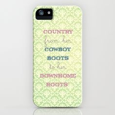 Shes Country iPhone Case