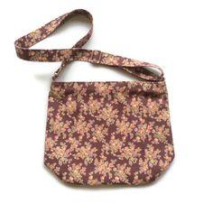 Purple floral cross body bag , shoulder bag,