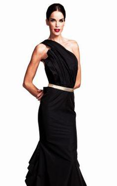 Asymmetrical Open Back Gown by Nicole Bakti 6561