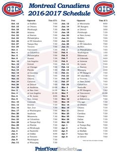 Free Printable Montreal Canadiens Hockey Schedule of Match Ups and Games. Who do the Montreal Canadiens Play? Montreal Canadiens, Coyotes Hockey, King Play, Kings Hockey, Nhl Season, Arizona Coyotes, Los Angeles Kings, Ottawa, Pittsburgh