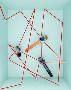 """ESQUIRE MAGAZINE, """"Three watches on a string....It seemed like a good idea at the time"""", creative by Elena Mora, pinned by Ton van der Veer"""
