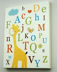 Baby room art...Jess we could make this I bet!