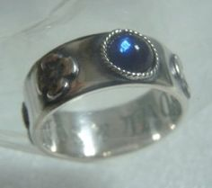 1left- Ring #9.5-SV925- Blue Swarovski- Howls Moving Castle -Museum gift wrap Japan(new)