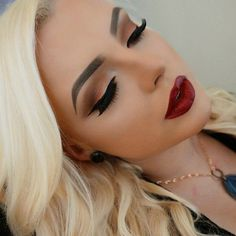 Image about beauty in Make-up by Zuzana on We Heart It Kiss Makeup, Cute Makeup, Gorgeous Makeup, Pretty Makeup, Hair Makeup, Glamorous Makeup, Perfect Makeup, Makeup Lipstick, Eyeshadow