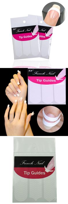 [Visit to Buy] 5 Packs/lot DIY French smile stickers Chic DIY French Manicure Nail Art Tips Tape Sticker Guide Stencil New all Smile bent #Advertisement