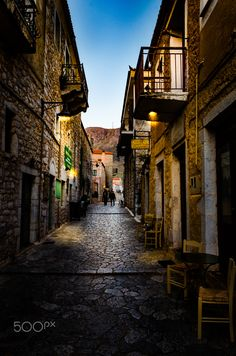 Beautiful Areopoli on Mani Peninsula - Laconia, Greece Vacation Trips, Vacation Spots, Wonderful Places, Beautiful Places, Europe Street, Places In Greece, Travel Themes, Ancient Greece, Small World