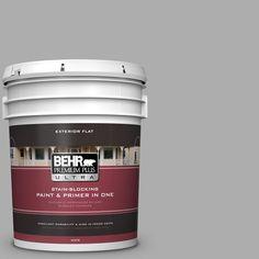 BEHR Premium Plus Ultra 5 gal. #hdc-NT-27A Soft Pebble Flat Exterior Paint