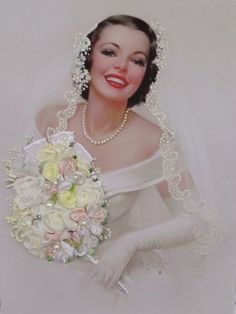 "picture ""Bride"", Silk ribbon embroidery | MySilkribbonEmbroidery - Needlecraft on ArtFire"