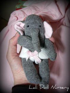 PDF PATTERN Sock Mini elephant by LaliDolls on Etsy