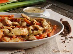 straccetti di pollo con verdure -