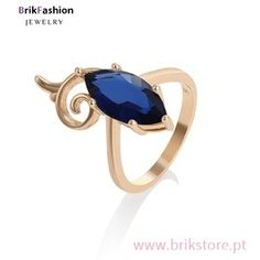 Anel Banhado a Ouro Sapphire, Gemstone Rings, Gemstones, Jewelry, Women, Fence, Copper, Princesses