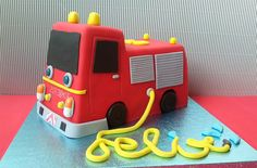 Tarta Camión de bomberos | Sweet Mary