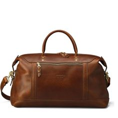 Hulme Co. Continental Duffle in American Heritage Leather Carry On Size, Leather Luggage Tags, Travel Bags For Women, Leather Accessories, Leather Handle, Leather Satchel, Brown Leather, American, Weekender Bags