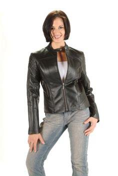 Women's Nice Sports Fitted Leather Jacket - Black ,Zipper closure Dona Michi,http://www.amazon.com/dp/B00AH2B8PM/ref=cm_sw_r_pi_dp_QSADsb15Q9XAPHTV