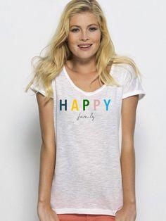 Camiseta mujer cuello redondo HAPPY FAMILY de DECHARCOENCHARCO en Etsy