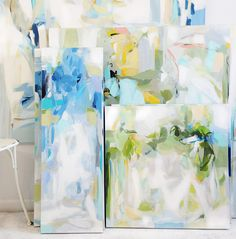 One of my all-time favorite designers, Alex Papachristidis, is a fellow lover of blue and white. The exquisite spaces he designs are v. Abstract Landscape, Abstract Art, Watercolor Artwork, Diy Wall Art, Traditional Art, Painting Inspiration, Decoration, New Art, Flower Art
