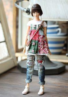 SugarBabyLove Torn jeans set for Momoko par SugarbabyloveDoll