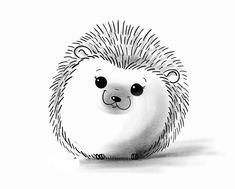 cute hedgehog drawing looking up Doodle Drawings, Cute Drawings, Doodle Art, Drawing Sketches, Pencil Drawings, Drawing Ideas, Cute Easy Animal Drawings, Sketching, Easy Cartoon Drawings