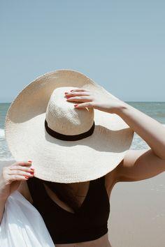 travelling, beach, resortlife, holiday, black bikini Black Bikini, Panama Hat, Travelling, Beach, Bikinis, Holiday, Vacations, The Beach, Bikini