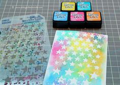 Reverse Stenciling with Distress Inks