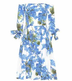 Printed off-the-shoulder dress | Carolina Herrera
