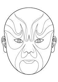 Image result for beijing opera mask drawing