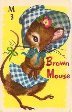 Brown Mouse Rummy cards-played with this deck as a child.