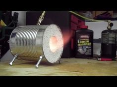 How to make a coffee can forge - YouTube