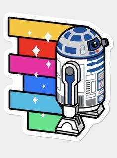 Rainbow Zoom Sticker By StarWars Design By Humans Star Wars Stickers, Guitar Stickers, Cute Laptop Stickers, Meme Stickers, Tumblr Stickers, Diy Stickers, Printable Stickers, Star Wars Film, Star Wars Fan Art
