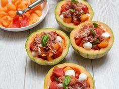Summer salad ideal for the holidays – Entrance Recipe: Melon salad by Nathalielielie Food L, Love Food, Food Porn, Ham Salad Recipes, Healthy Recipes, Brunch, Caesar Salat, Caprese Salat, Salty Foods