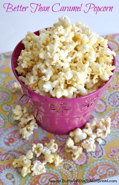 BETTER than Caramel Popcorn- trust me, you'll want to try this! Butter, with a … BETTER than Caramel Popcorn- trust me, you'll want to try this! Butter, with a Side of Bread Yummy Snacks, Delicious Desserts, Snack Recipes, Dessert Recipes, Yummy Food, Dessert Healthy, Delicious Cookies, Nutella, Popcorn Snacks