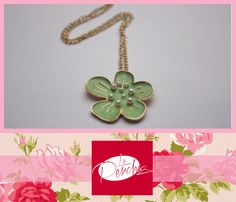 La Percha Bisutería Jewelry  Collar Necklace Flor Flower Menta Mint Accesorios para mujer Moda Fashion