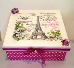 Discover thousands of images about Vintage romantic decoupage Decoupage Box, Decoupage Vintage, Jewellery Box Making, Ceramic Boxes, Newspaper Basket, Shabby, Painted Boxes, Altered Cigar Boxes, Vintage Box