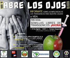Biodiversidad en América Latina | Chile: invitación al foro Semillas Libres de Transgénicos ¡Ahora!