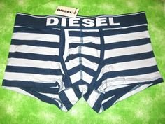 New Diesel Mens Divine Stripe Light Blue Navy Boxer Briefs Underwear Medium M | eBay