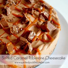 Easy Salted Caramel Toblerone Cheesecake