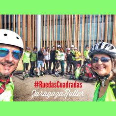 Ruta Ruedas Cuadradas.  Square Wheels Route. Bicycle Helmet, Hats, Roller Blading, Zaragoza, Wheels, Hat, Cycling Helmet, Hipster Hat
