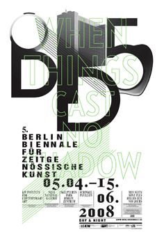 5th Berlin biennale - poster by Ludovic Balland