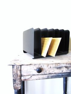 Spring Cleaning Vintage Metal Office File by VintageScraps on Etsy, $18.00