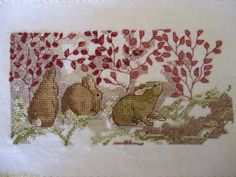 bunnies counted cross-stitch