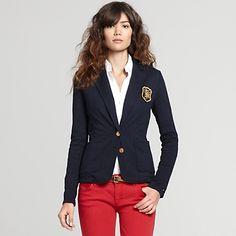 6d8a862fb9e100 Navy Blue blazer and white shirt Outerwear Women