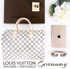 Win Louis Vuitton Speedy 30 Gold iPad Mini and Tory Burch Sunglasses Giveaway