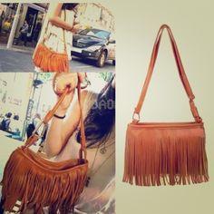 "Spotted while shopping on Poshmark: ""Flash Sale Brown fringe purse ⭐️ suggested user!""! #poshmark #fashion #shopping #style #Handbags"