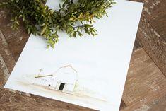 Barn Watercolor Print