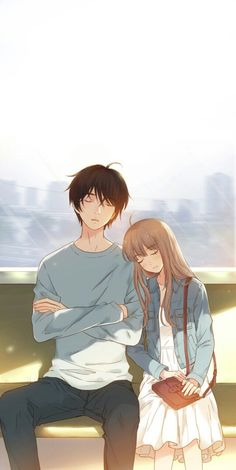 Manga Couple - HuntingAnime have the greatest selection of anime merchandise to offer with the most popular anime brands.Selected by fans for fans, find what's new today.This is a site you don't want to miss. Anime Couples Drawings, Anime Couples Manga, Cute Anime Couples, Kawaii Anime, Anime Cupples, Couple Manga, Anime Love Couple, Anime Cosplay, Anime Art Girl
