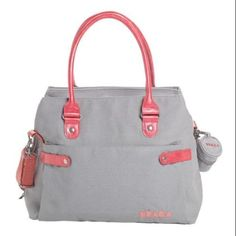 I'm learning all about Beaba SAC Stockholm Diaper Bag - Beige/Coral at @Influenster!